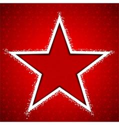 Christmas Star Snowflake Greeting Card vector image