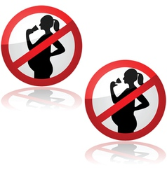 No drinks for pregnant women vector