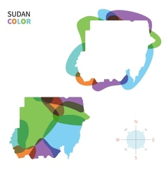 Abstract color map of sudan vector