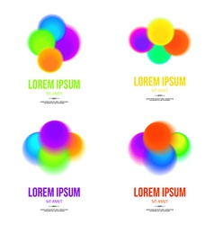 Set of abstract colorful logo design template for vector