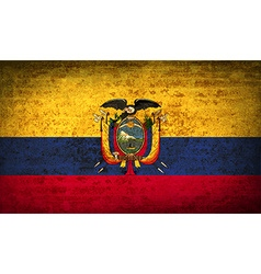 Flags ecuador with dirty paper texture vector