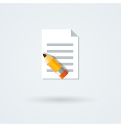 Paper and pencil icon vector