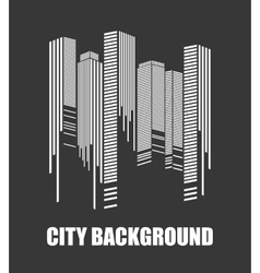 City design Urban  Buildings concept vector image