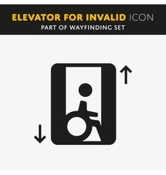 Disability man pictogram flat icon lift vector