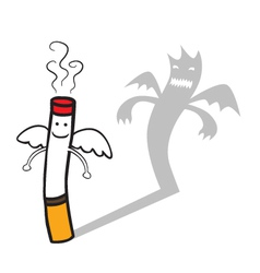 Bad cigarette vector