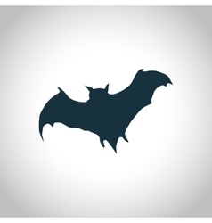 Bat black icon vector