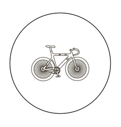 Bicycle icon outline single sport icon from the vector
