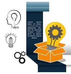 Big idea infographic design vector