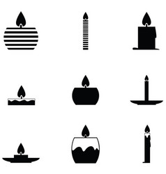 Candles icon set vector