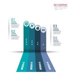 Circle arrows infographics set element vector