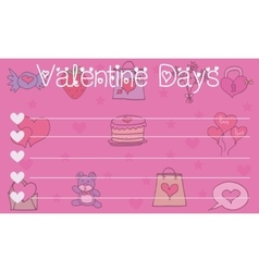 Collection stock valentine greeting card vector