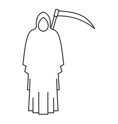 death icon outline style vector image