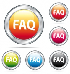 Fad icon buttons vector