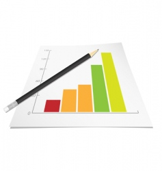 graph with pencil vector image vector image