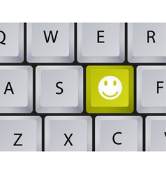 Keyboard smiley button vector
