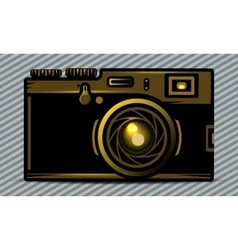 Luxury golden photo camera vector image vector image