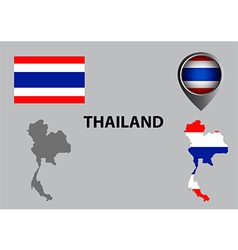 Map of Thailand and symbol vector image