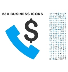 Payphone icon with flat set vector