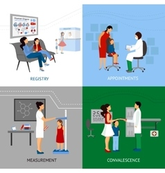 Pediatrician design concept vector