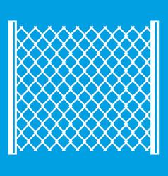 Perforated gate icon white vector