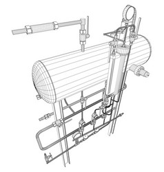 Picture of heat exchanger on white vector