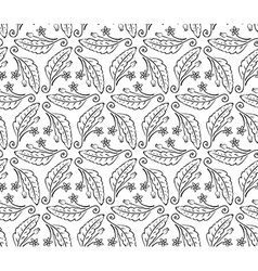 Seamless from leaves and flowers vector image