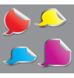 Set of colorful speech bubble stickers different vector image vector image