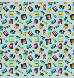 Sports food nutrition seamless pattern vector