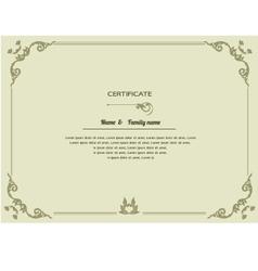Thai elegant art frame certificate design templat vector image vector image