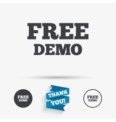 Free demo sign icon demonstration symbol vector