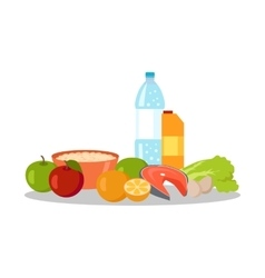 Healthy food banner isolated on white background vector