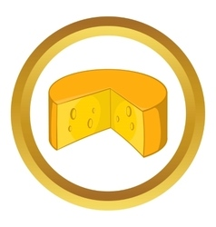 French cheese icon vector