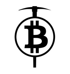Symbol of cryptocurrency bitcoin mining vector