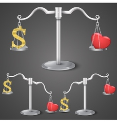 Balance between dollar and love vector