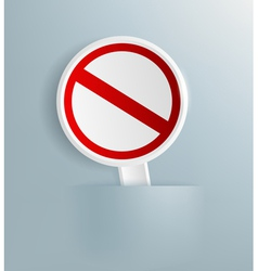 Prohibitory sign vector