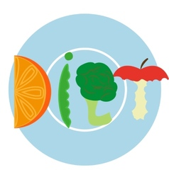 Blue diet plate vector