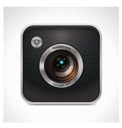 square retro camera icon vector image