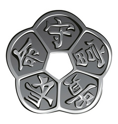 Ancient chinese coin vector