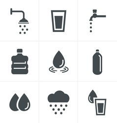 Water related icons set design vector