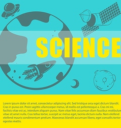 Science theme with space and text vector