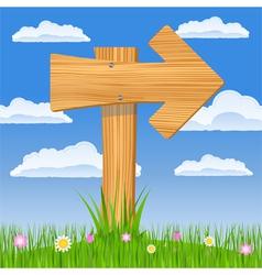 wooden arrow sign vector image