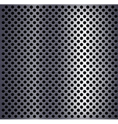 Metal plate with holes vector