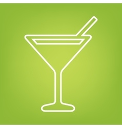Coctail line icon vector