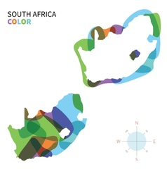 Abstract color map of south africa vector