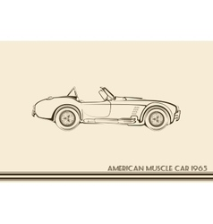 American muscle car silhouette 60s vector image vector image
