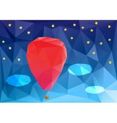 Ballon at night poplygonal vector