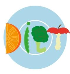 Blue diet plate vector image