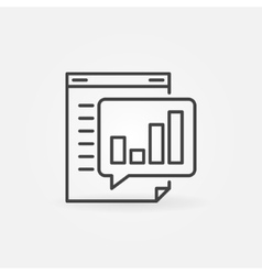 Business report line icon vector
