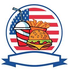 Cartoon burger meal vector