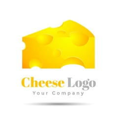 Cheese Colorful 3d Volume Logo Design Corporate vector image vector image